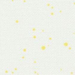 Toile Zweigart Fein-Aïda Splash Blanc/Jaune (coloris 1349) 7 pts