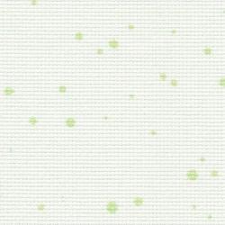Toile Zweigart Fein-Aïda Splash Blanc/Vert (coloris 1359) 7 pts