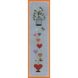 Marque-page Bouquet de coeurs (Kit)