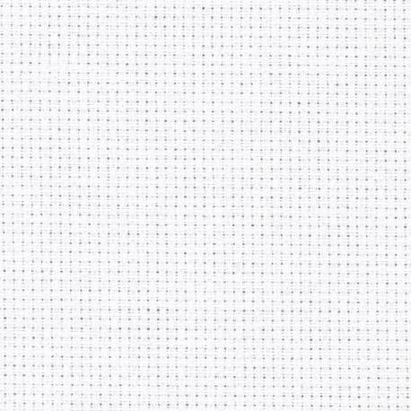 Toile Zweigart Stern-Aïda Blanc (coloris 100) 5.4 pts