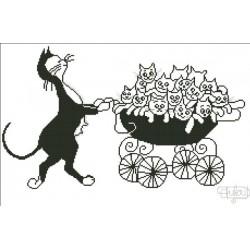 Chat poussette dubout