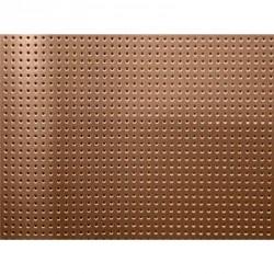 Vinyle Laqué Perforé - Or cuivre