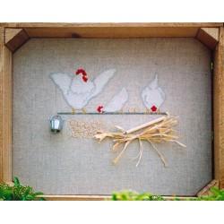 Trois poules sur un fil (Kit)