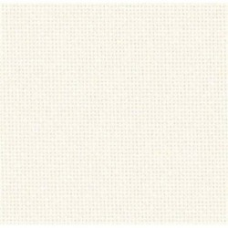 Toile Zweigart Lugana Ivoire (coloris 101) 10 fils/cm